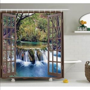 Other - Waterfall Forest Woods Shower Curtain